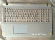 New SONY Vaio SVF15 SVF154 SVF153 US keyboard upper cover case touchpad white
