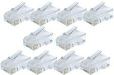 10 X RJ45 Cat5e 5e CAT 5 connecteurs bouchons crimp extrémités de câble réseau lan gold pins