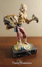 Fontanini Simonetti Gypsy Boy Selling Grapes Figurine on Italian Carrara Marble