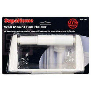 SupaHome Wall Mounted Plastic Waterproof Roll Paper Holder Bathroom Tool