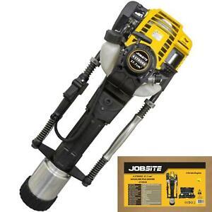 Jobsite 37.7cc 4 Stroke Hammer Rammer Pile Driver Petrol Post Rammer Knocker