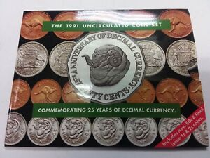 1991 Australian Uncirculated Mint Coin Set - 25 Years of Decimal Currency