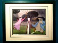 MAID MARIAN, LADY KLUCK DISNEY ROBIN HOOD PRODUCTION CEL ON COPY BG, NEW FRAMED