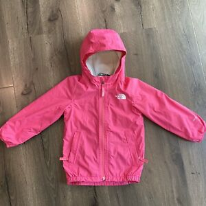 THE NORTH FACE DryVent Toddler Girl's WARM STORM JACKET Hooded/pockets Size 4T