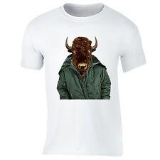 Buffalo Jacket T-shirt Bison Texas American Animal Cool Funny Humor Gift T-shirt
