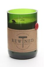 Recycled Wine Bottle Rewined Candle - Cabernet Scent -Soy Wax 60-80hrs Burn Time