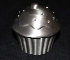 Pewter Cupcake Money Box Baby Shower Christening Gift Birthday Girl NEW Cake