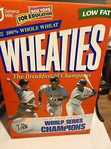 WHEATIES CEREAL FULL BOX NEW YORK YANKEES WORLD SERIES CHAMPIONS DEREK JETER