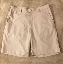 PETER MILLAR E4 WICKING-Khaki Poly, Mens Flt.Fnt Summer Golf Shorts