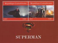 SUPERMAN MAN OF STEEL HENRY CAVILL AMY ADAMS 2017 MNH STAMP SHEETLET