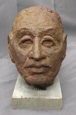 Old Vintage Mid Century Modern Art Pottery Statue Bust Sculpture Head