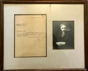 FAMOUS PHYSICIST Albert Einstein NOBEL PRIZE autograph, typed letter signed - mo