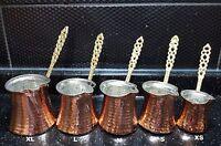 Turkish  Coffee Pot, Cezve, Ibrik,Hand Hammered Copper Pot, Coffee Maker, Jezve