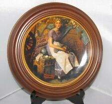 Framed Norman Rockwell's Plates in wooden Frame: Dreaming Attic