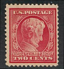 UNITED STATES (US) 369 MINT HINGED F-VF 2c LINCOLN BLUE PAPER