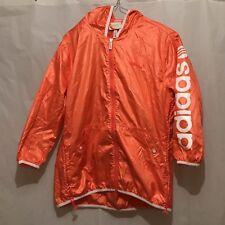 ADIDAS Womens SC L Windbreaker Jacket In Coral. Z65787. Uk Small. Vintage.