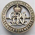 ORIGINAL WW1 BRITISH SILVER WAR SERVICES RENDERED WOUND BADGE 55841