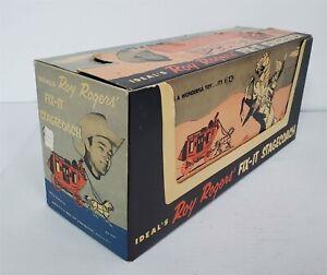 B444 VINTAGE 1950'S IDEAL ROY ROGERS FIX IT STAGECOACH W/ ORIGINAL BOX