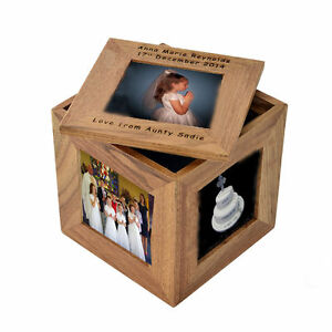 Personalised Engraved 1st holy Communion Trinket Photo Gift Box by Cellini #1
