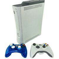 Microsoft Xbox 360 60GB White Console Bundle W/ 2 Controllers Rock Candy Tested