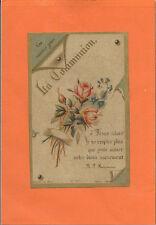 ANCIENNE IMAGE PIEUSE/ANTICA IMMAGINE SACRA/SOUVENIR 1ERE COMMUNION 1892 CAHORS