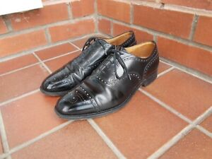 CHURCH'S Black Leather Diplomat Shoes * 9 (F) uk *