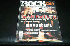 ROCK ON MAGAZINE 9/2003 IRON MAIDEN DIMMU BORGIR