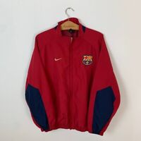 FC BARCELONA TRAINING FOOTBALL JACKET TRACK TOP SOCCER JERSEY NIKE SIZE L