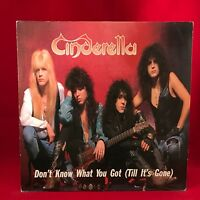"CINDERELLA Don't Know What You Got Till It's Gone 1989 UK 3-track 12"" Vinyl"