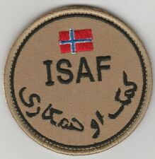 ISAF. AFGHANISTAN. NATO forces NORWAY patch DESERT 'N' VLCRO