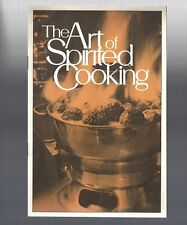 New listing Vintage collectible 1970 The Art Of Spirited Cooking Recipe Booklet