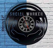 Social Worker Gifts Vinyl Records Wall Clock Decor Appreciation Graduation Gift