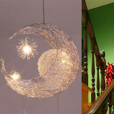 Fashion Moon & Star Pendant Light Aluminium Wire With 5 Lights Living Room Lamp
