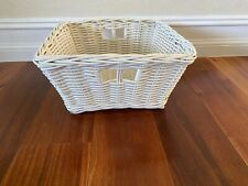 Pottery Barn Kids White Wicker Basket   W20A