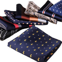 Fashion Formal Suit Pocket Square Handkerchief Men's Wedding Dress Paisley Hanky