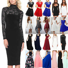 Women Lace Formal Dress Prom Evening Party Cocktail Bridesmaid Wedding Ball Gown