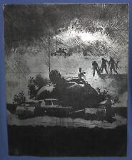 VINTAGE METAL ENGRAVED PLATE FOR ETCHINGS TANK SOLDIERS