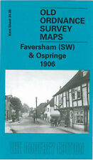 OLD ORDNANCE SURVEY MAP FAVERSHAM SW OSPRINGE SAXON ROAD JUDDS HILL 1906