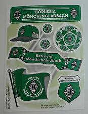 Borussia Mönchengladbach Sticker Aufkleber 8 teilig Gladbach Fohlen M'gladbach