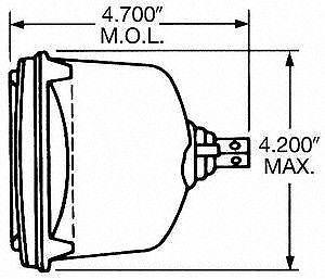 Wagner H4656BL Low Beam Headlight