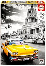 Educa 17690. Taxi en La Habana, blanco y negro. Puzzle de 1000 piezas. 68x48cm