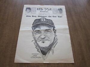 1941 Boston Red Sox Ramblings Baseball Newsletter (Opening Day)