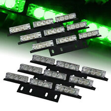 54 LED Emergency Car Vehicle Strobe Lights Bars Warning Green 12V