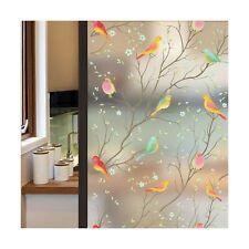Coavas Privacy Window Film Opaque Non-Adhesive Frosted Bird Window Film Decor...