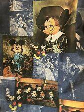 Disney Mickey Minnie Long Sleeve Shirt Kennington Ltd Portrait Art VTG 70s