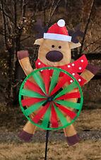 "Reindeer Tummy Wind Spinner Winter Christmas Decorative 15"" x 35"""