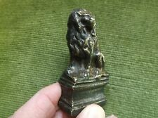 RARE ANTIQUE 19TH CENTURY GEORGIAN SOLID BRONZE DESK SEAL, SEATED LION ON A TOMB