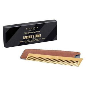 Ted Baker Metal Barbers Comb And Case