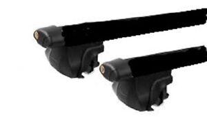 2xBLACK CROSS BAR ROOF RACK For SKODA OCTAVIA WAGON 2000-2018 clamp to raiserail