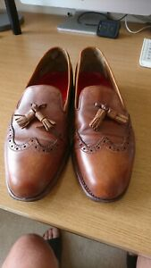 Grenson Tan Tassel Loafers UK8/9
